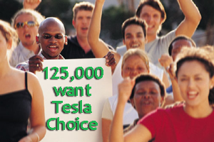 EV Politics 125,000 Support Tesla Direct Sales
