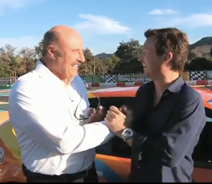 Dr Phill races EV on Jay Leno Show