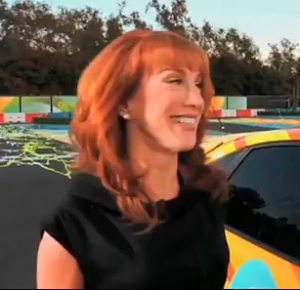 Kathy Griffin Races an EV racing