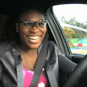 Serena Williams wins electric car race