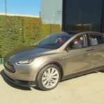 New Tesla SUV Crossover on Display