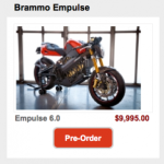 Brammo Electric Motorcycles Offer 1 Cent Per Mile Fuel Costs